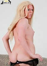 Britney was a little nervous this being her 1st shoot but she soon warmed up and had no problem in getting her nice cock hard She has only been on hor