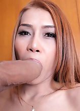 Sexy Asian transsexual Cee gets fucked!