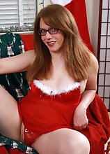 Wendy sits on Santa's Lap
