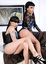 Horny Kelly and Adriana suck and play