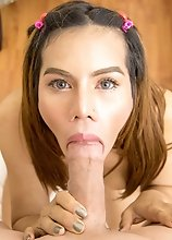 Asian Ladyboy Winnie - Puffy Backdoor POV Bareback Extreme!