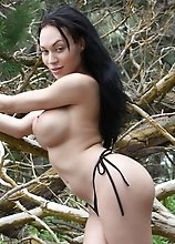 Seductive tgirl Mia Isabella stripping in Hawaii